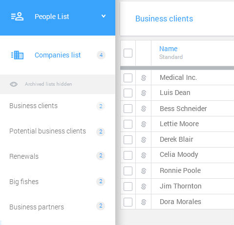 insurence agents companies lists